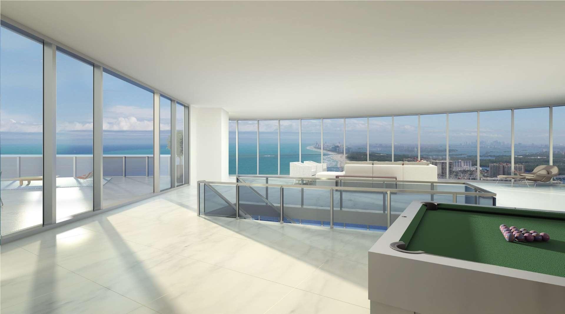The Porsche Design Tower Miami. The Porsche Condominium in Sunny ...