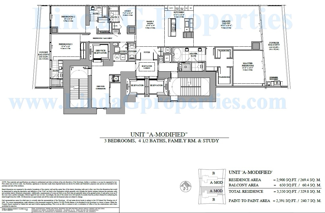 Turnberry Ocean Club A Modified Floor Plan