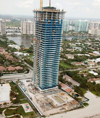 The Regalia Miami Construction Progress in Sunny Isles Beach