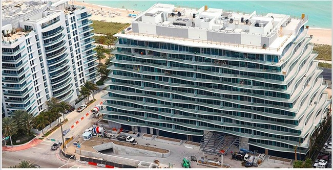 Fendi Chateau Residences Condos Surfside, Miami Beach construction April 2016