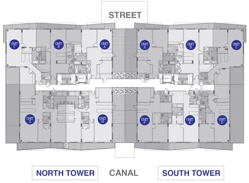 Kai at Bay Harbor 3rd Floor layout