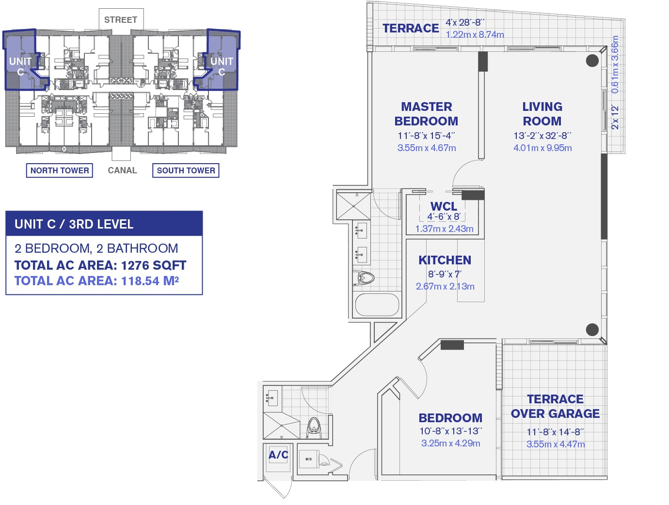 3rd Floor Unit C Floor Plan