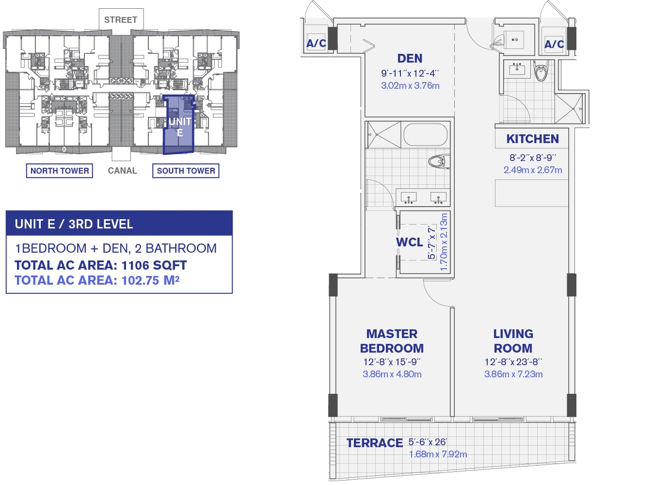 Kai at Bay Harbor 3rd Floor Unit E Floor plan