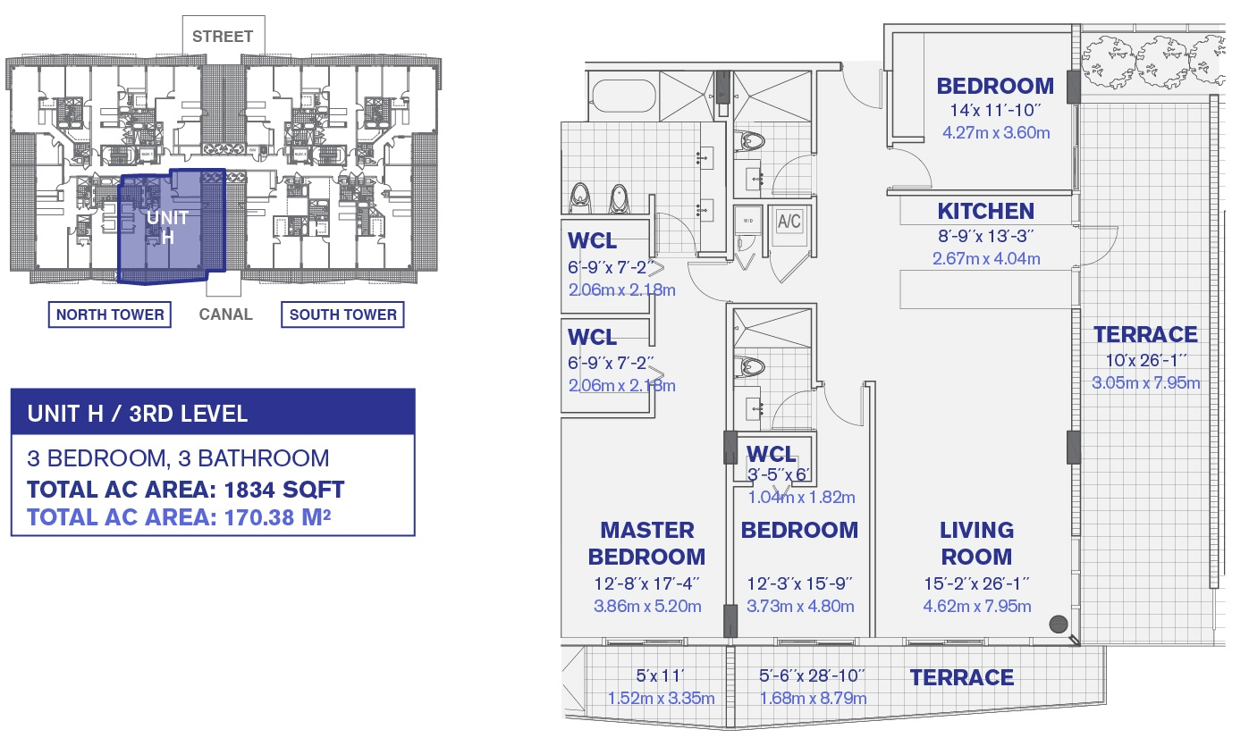 Kai at Bay Harbor 3rd Floor Unit H Floor Plan