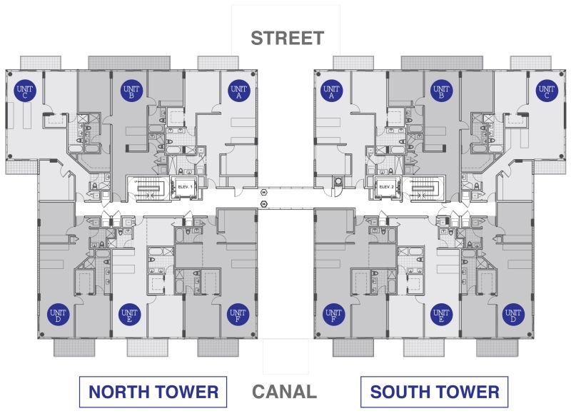 Kai at Bay Harbor 4th and 6th Floor layout