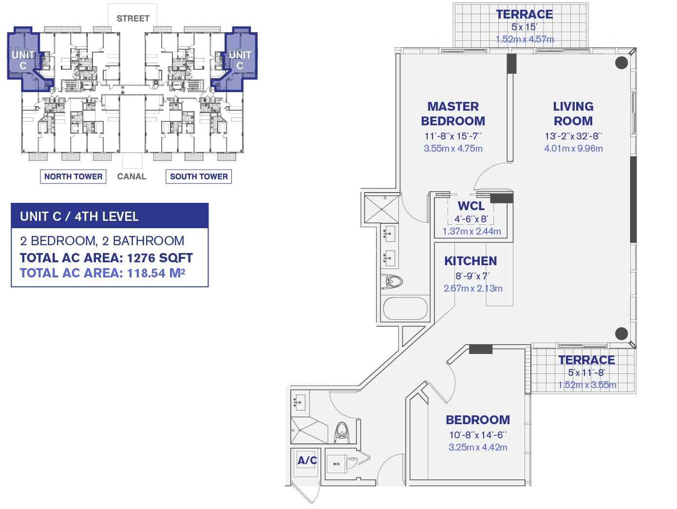 4th and 6th Floor Unit C Floor plan