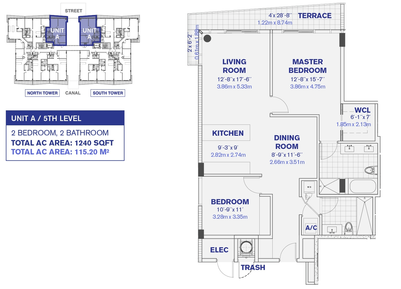 5th Floor Unit A Floor plan