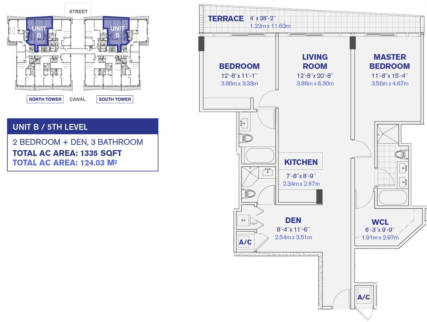5th Floor Unit B Floor plan
