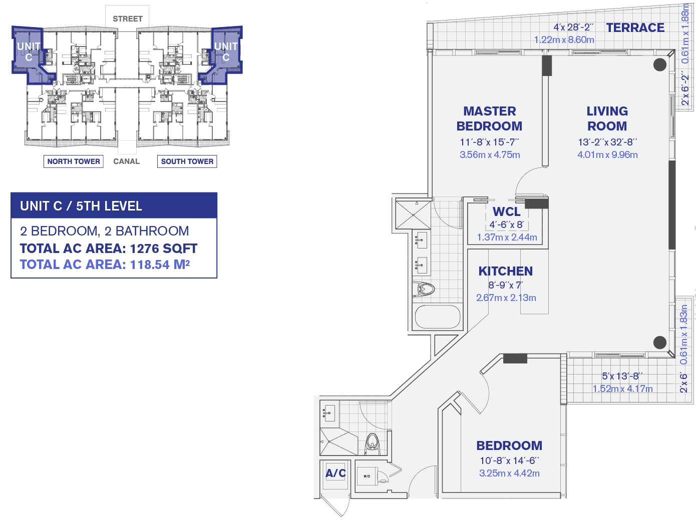 5th Floor Unit C Floor plan