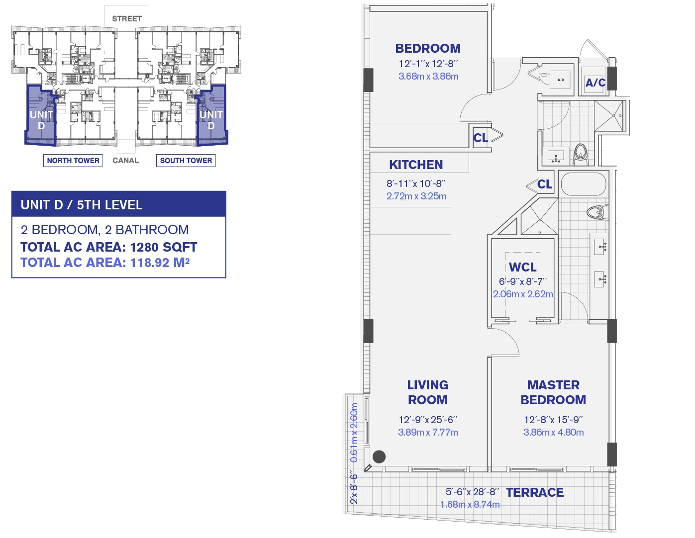 Kai at Bay Harbor 5th Floor D Unit Floor plan