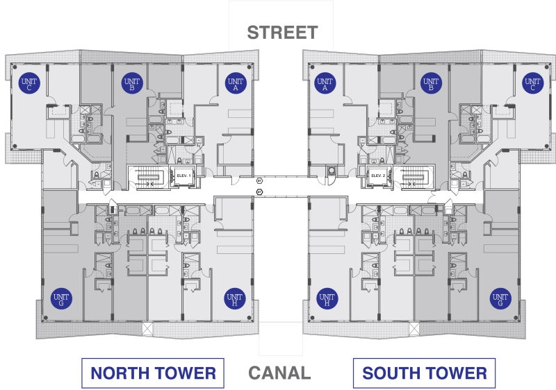 Kai at Bay Harbor condominium 7th floor floorplan layout