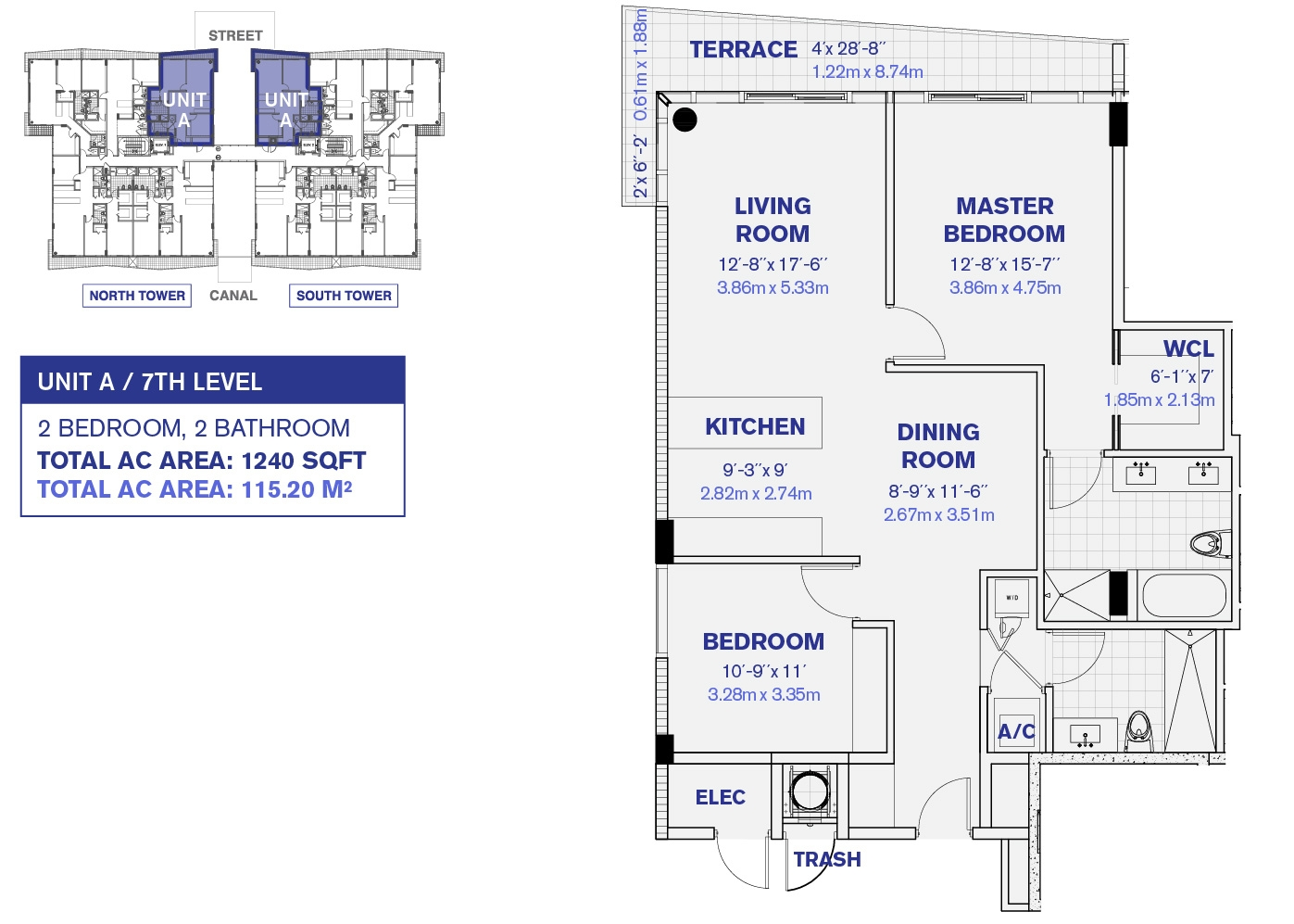 Kai at Bay Harbor 7th Floor Unit A floor plan