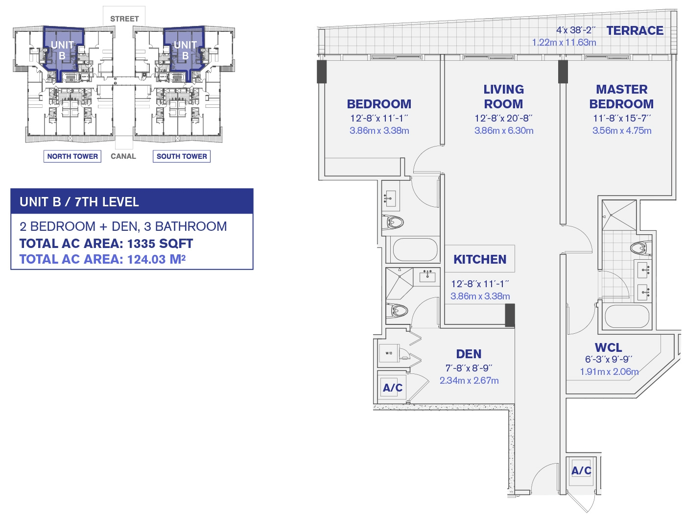 Kai at Bay Harbor Condos 7th Floor Unit B Floor plan