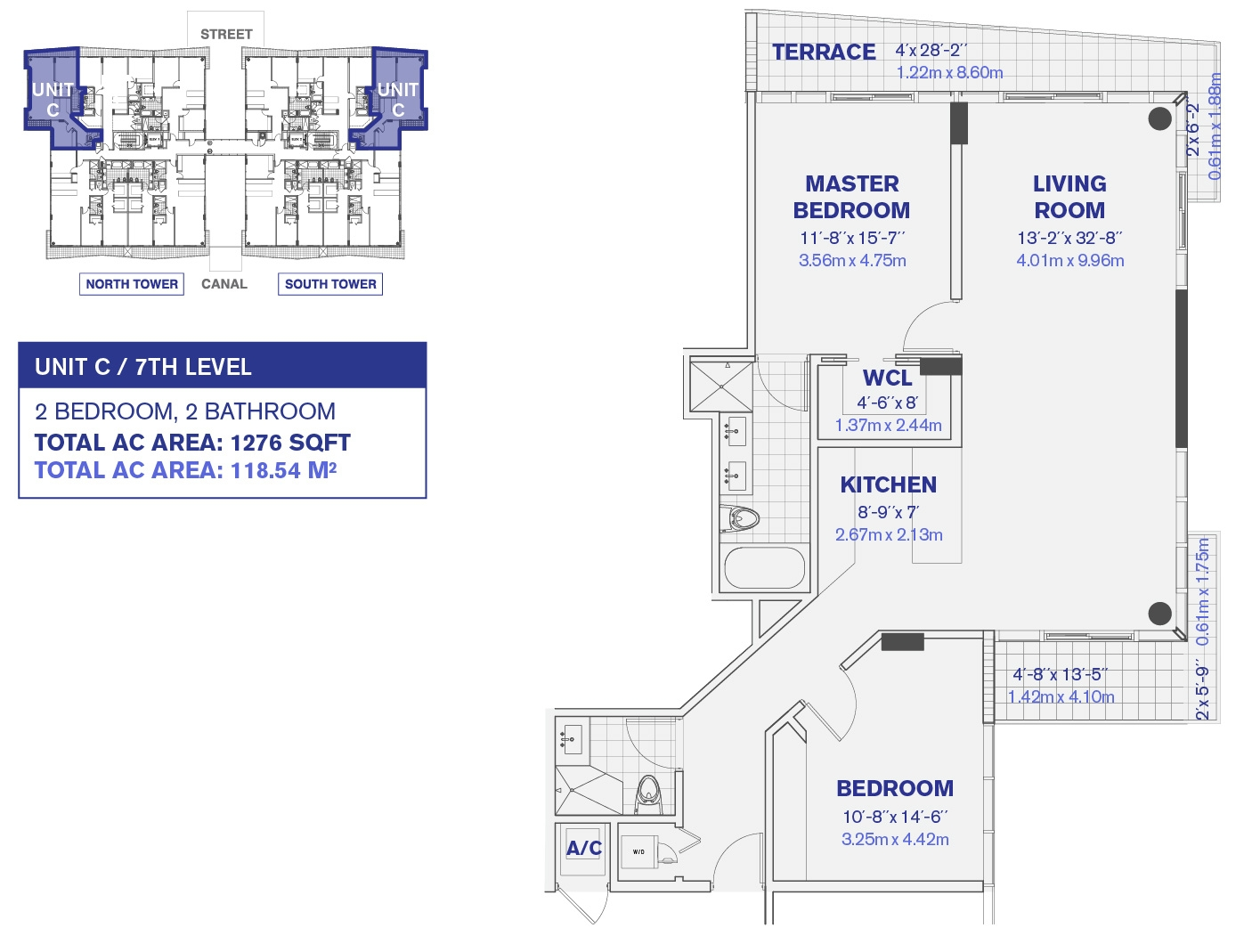 Kai at Bay Harbor condo 7th Floor Unit C Floor Plan