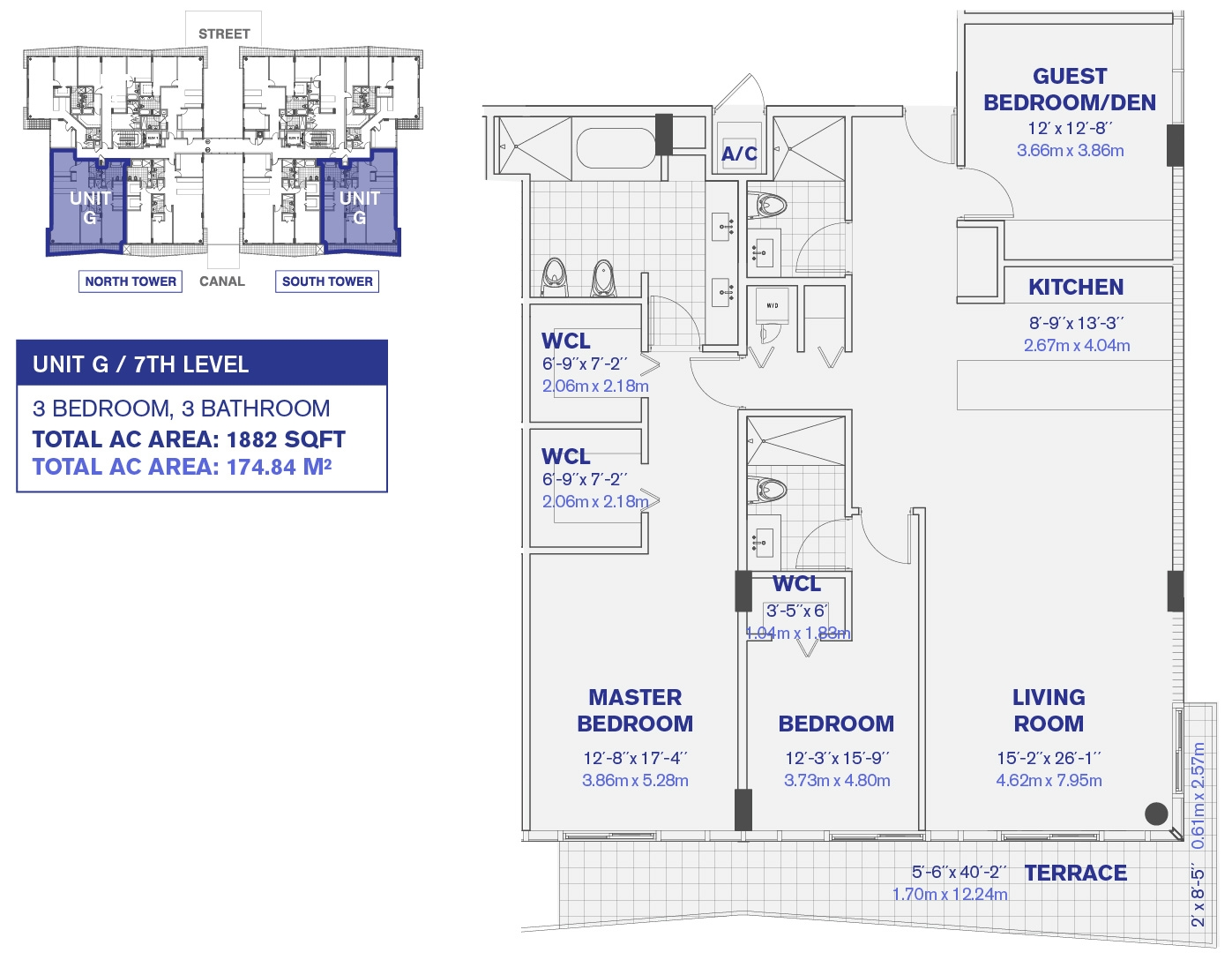 Kai at Bay Harbor condos 7th Floor Unit G Floor plan