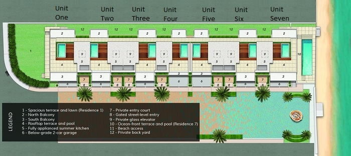 95th on the ocean now called ocean seven residences new for Luxury townhome plans