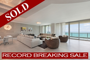 ONE Bal Harbour #1407 Record Sale
