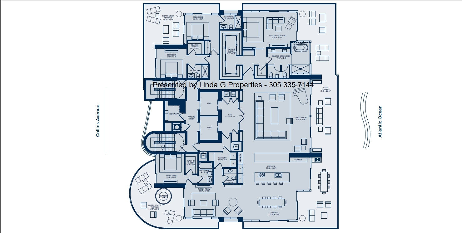 L'Atelier Miami Beach Condos - Full Floor luxury condo floorplan