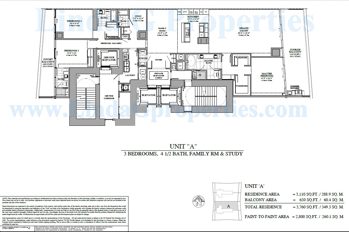 Turnberry Ocean Club A Floor Plan