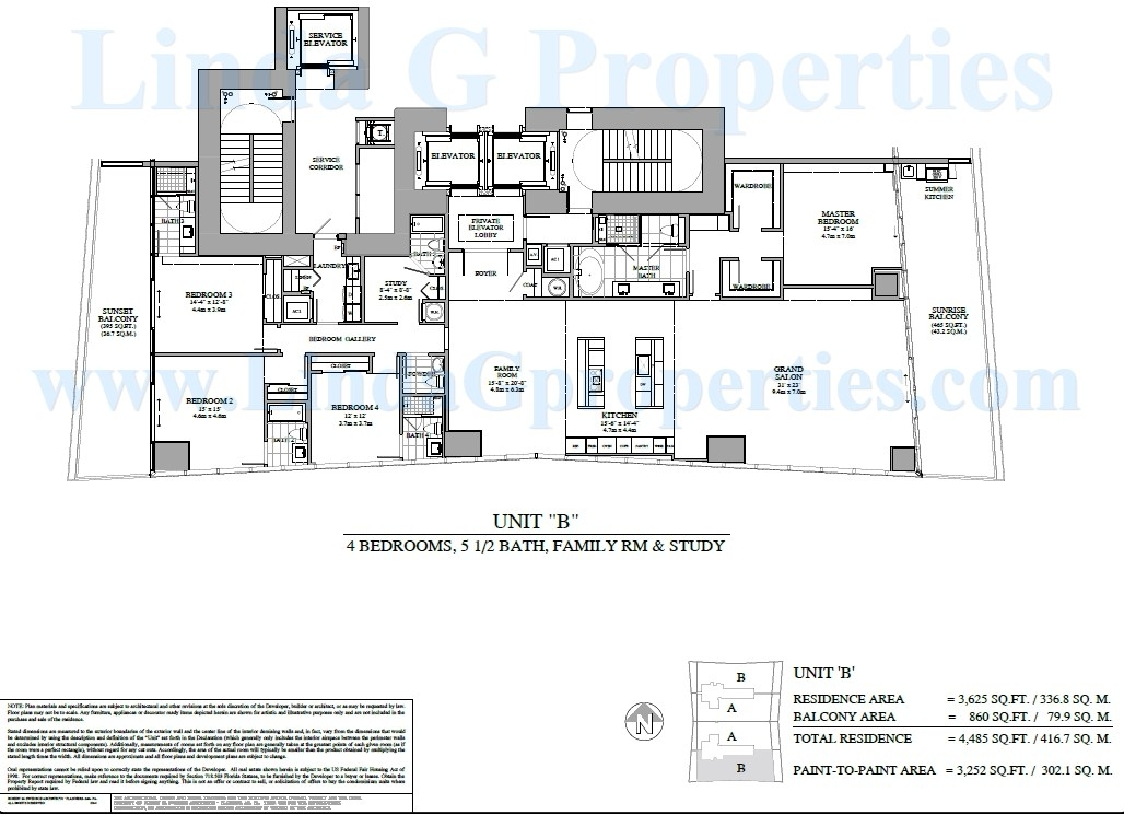 Turnberry Ocean Club B Floor plan