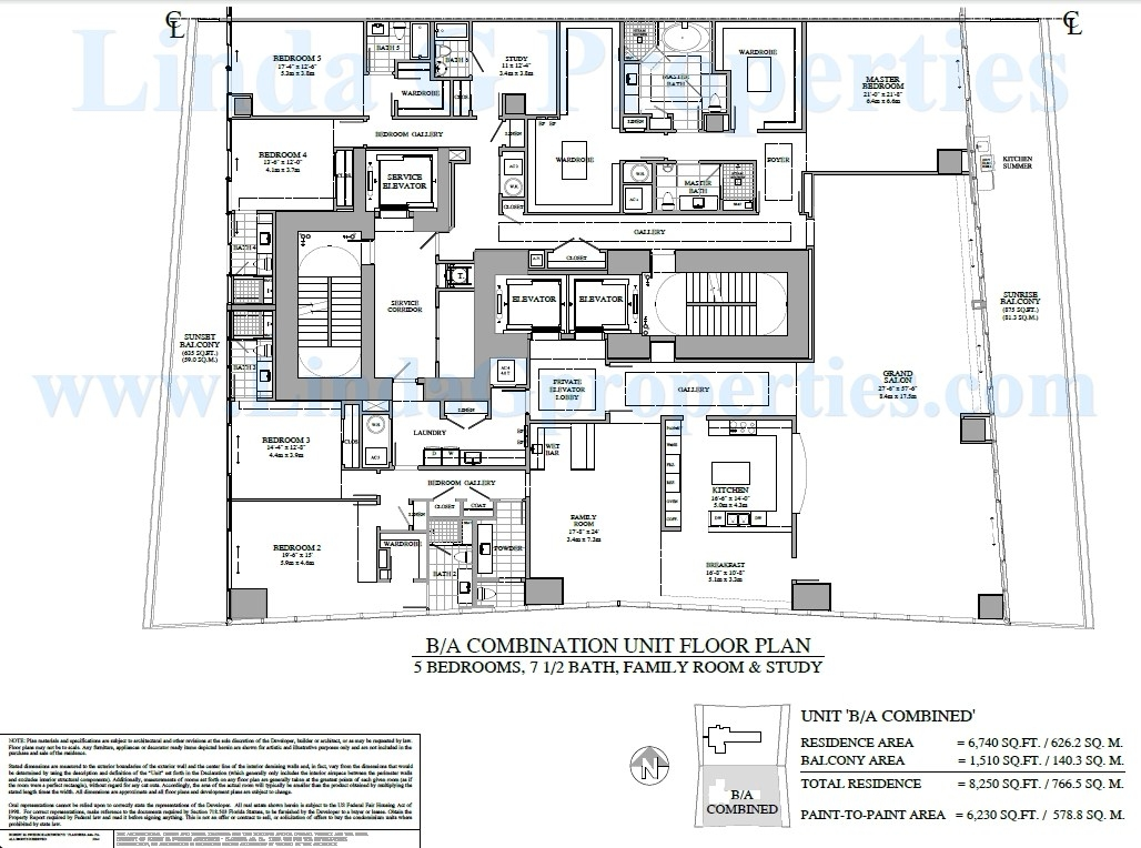 Turnberry Ocean Club B / A Combination Condo Floor plan