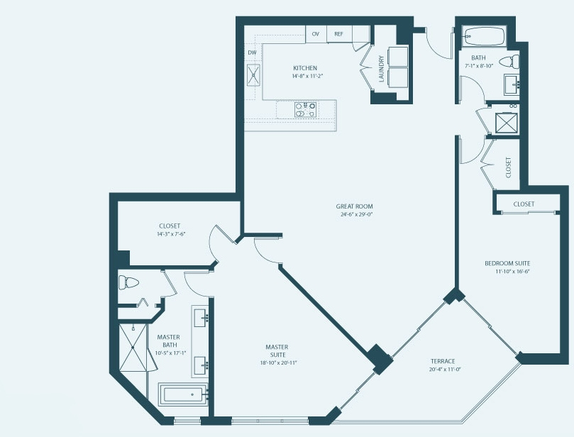 Marina Palms Yacht Club & Condominium Residences Floorplan Aa