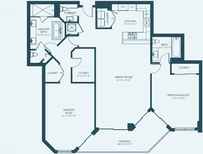 Marina Palms Yacht Club & Condominium Residences Floorplan B