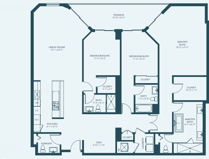 Marina Palms Yacht Club & Condominium Residences Floorplan H