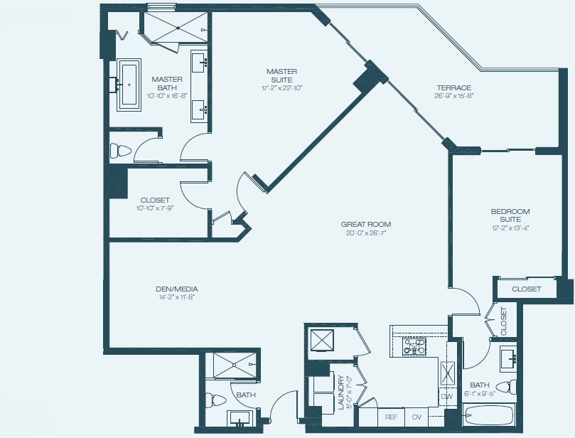 Marina Palms Yacht Club & Condominium Residences Floorplan Ca