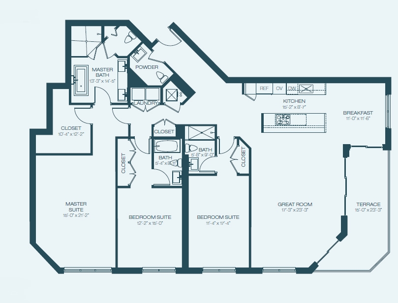 Marina Palms Yacht Club & Condominium Residences Floorplan E