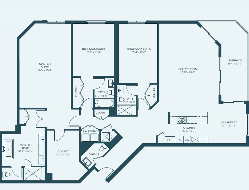 Marina Palms Yacht Club & Condominium Residences Floorplan F