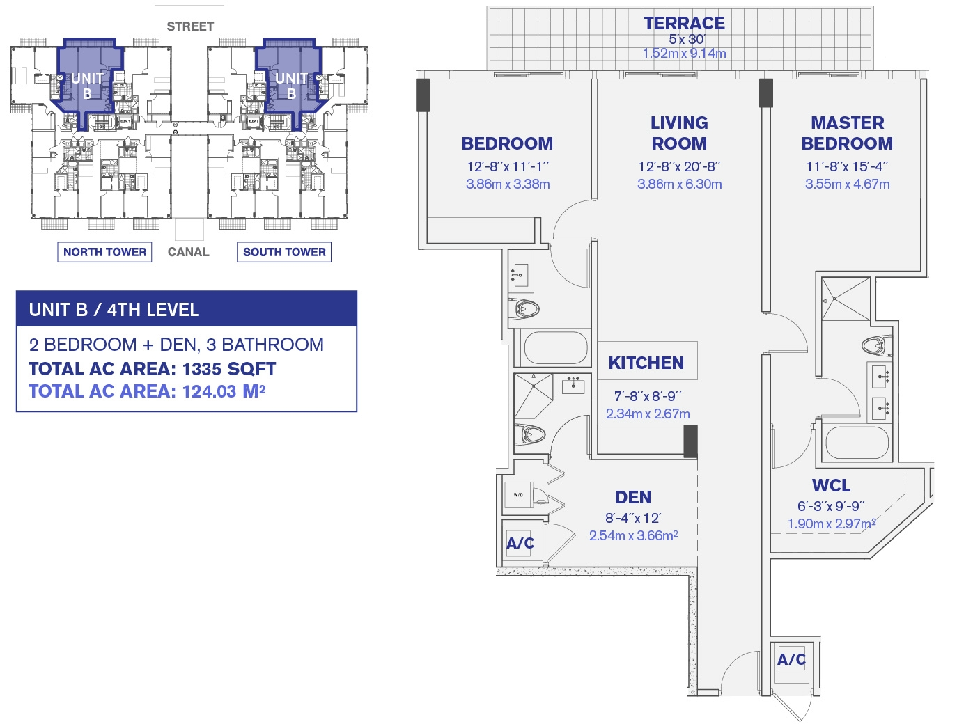 Kai at Bay Harbor 4th and 6th Floor Unit B Floor plan