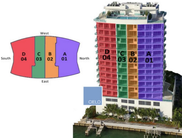 Cielo on the Bay condominium floorplans