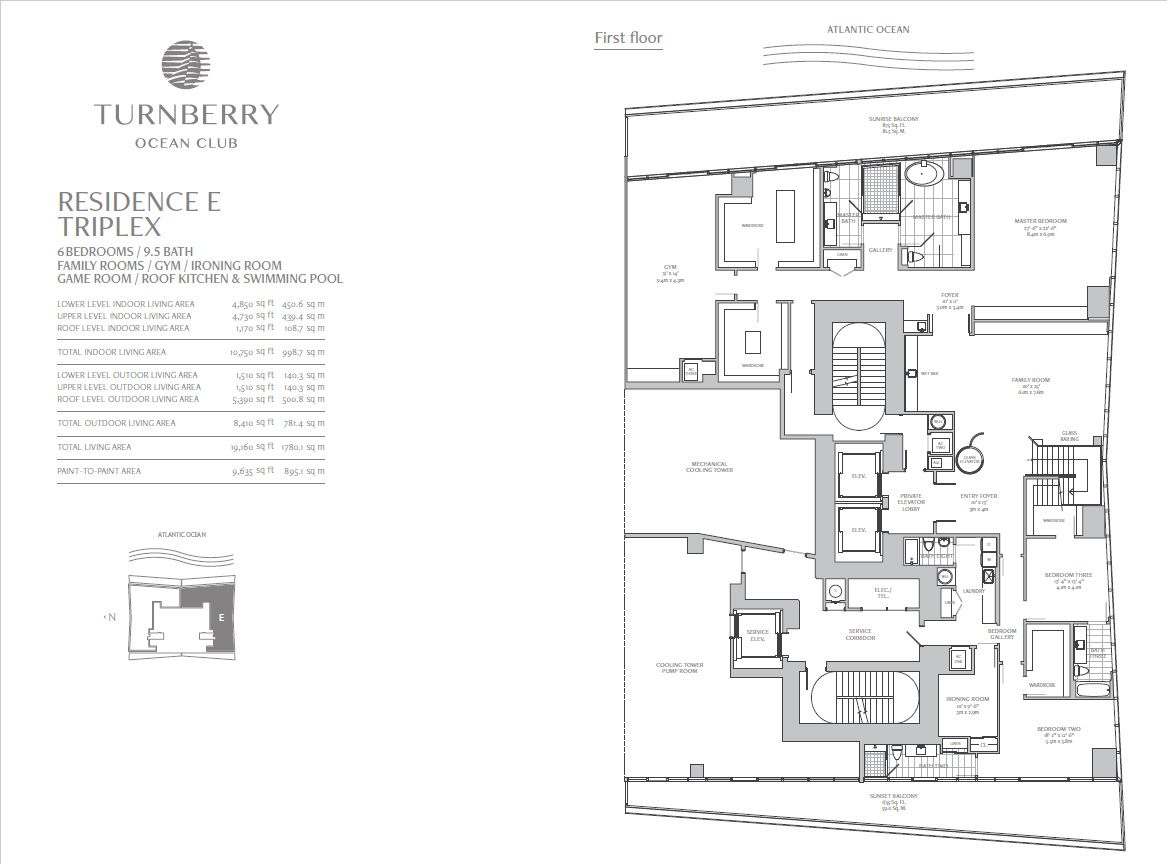Turnberry Ocean Club Triplex Penthouse Home Floorplan